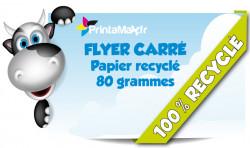 Flyer carré format 14x14 cm. Impression sur papier recycle