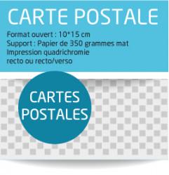 Carte postale personnalisee. Carte de voeux personnalisee