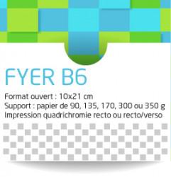 Flyers format B6 (10x21 cm). Livraison gratuite