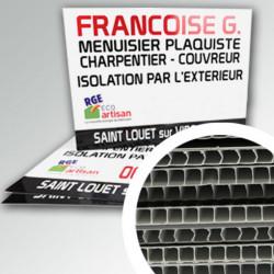 Panneau publicitaire PVC 3,5 mm alvéolé (Akilux)