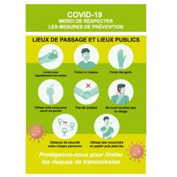 Affiches A3 COVID19 prêt à imprimer