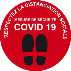 Autocollant spécial sol COVID-19 prêt à imprimer