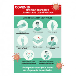 Flyer A6 COVID19 prêt à imprimer