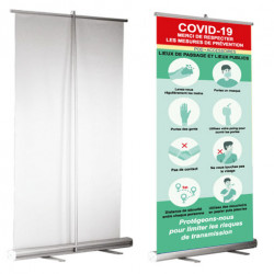 Roll up COVID-19 Prêt à imprimer