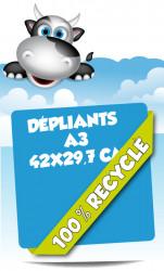 Dépliants 42x29,7 (A3). Papier 100% recyclé