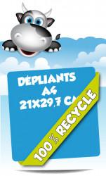 Dépliants 21x29,7 (A4). Papier 100% recyclé