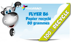 Flyers format 10x21 cm (B6). Impression sur papier recycle