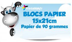 Blocs papier 15x21 cm. Papier de 90 grammes. Impression couleur