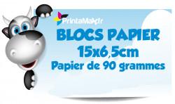 Blocs papier 15x6,5 cm. Papier de 90 grammes. Impression couleur