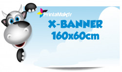 X-Banner 160x60 cm. Impression couleur