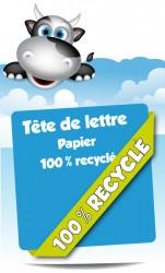Têtes de lettre. Papier 100% recyclé