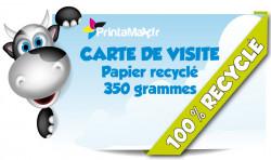 Cartes de visite pas cheres. Papier recycle.