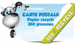 Cartes Postales. Impression sur papier recyclé