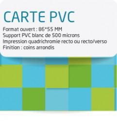 Carte PVC. Gamme economique