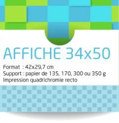 Affiches 35x50 cm. Papier de 135 grammes. Impression couleur recto