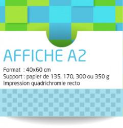 Affiches A2 (40x60 cm). Papier de 135 grammes. Impression couleur recto