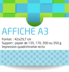 Affiche personnalise A3 (29,7x42 cm)