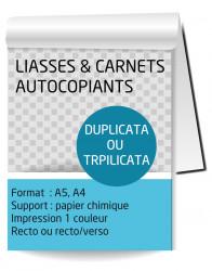 Liasse autocopiante A4. Duplicata (2 feuillets). Impression Recto/Verso