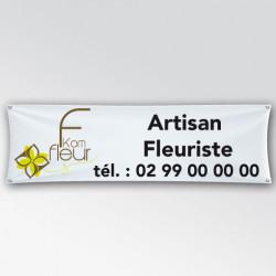 Banderole de 50 cm de largeur imprimee sur PVC de 510g