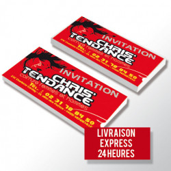 Cartes de correspondance. Livraison express