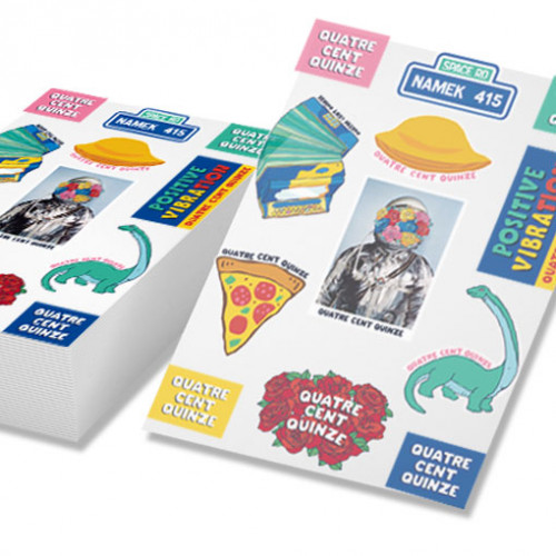 planche de stickers vynile transparent