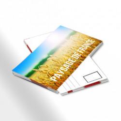 Carte postale pellicullee