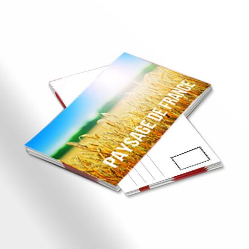 Carte Postale Personnalisee Pelliculee Au Format Publicitaire